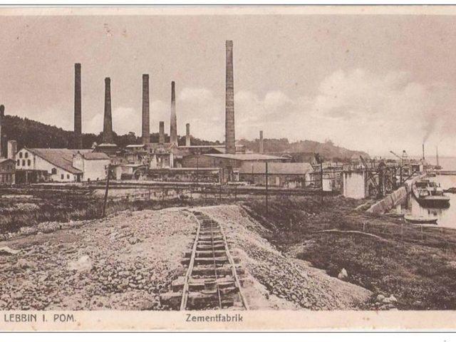 Przedwojenna fotografia fabryki cementu w Lubinie